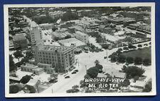Del Rio Texas Birds Eye View real photo postcard RPPC #1