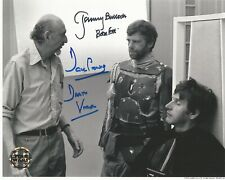 Dave Prowse & Jeremy Bulloch Star Wars hand signed photo rare image Unmasked