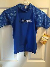 Kids Swim Shirt Rash Guard Size 12 XCEL UV Protection UPF 50+ New Swimwear