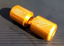 Yamaha R1 Engraved GOLD Anodized Bar Ends Sliders YZF-R R1M R1S