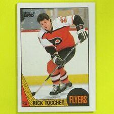 RICK TOCCHET  1987-88  ROOKIE  Topps  #2   Philadelphia Flyers