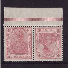 Deutsches Reich, K 3 F, PORÖSER DRUCK, postfrisch, Zusammendruck (21199)