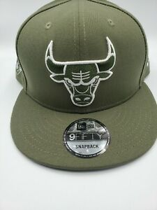 New Era Chicago Bulls 9Fifty 6X Champions Snapback Hat Olive