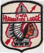 B7122 OA BSA Scouts  HIAWASSEE 333 SHIELD  X1a - MERGED IN 1963 - FIRST PATCH