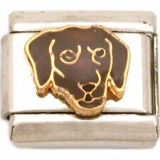 Labrador Italian Charm Enamel Dog Bracelet Jewelry 9mm