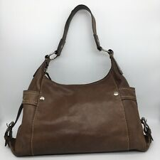 Fossil Handbag Shoulder Brown Purse Genuine Leather