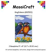 mosaicraft Pixel Basteln Mosaik Kunst Set 'Kingfishers' pixelhobby