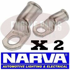NARVA BATTERY CABLE EYELET LUG CABLE SIZE 10mm2 STUD SIZE 10mm 57122 SOLDER X 2