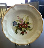 """Mikasa Garden Club Basket of Wildflowers Soup or Cereal Bowl, EC 403, 8 1/2"""""""