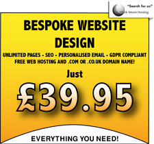 WEB DESIGN SERVICE - *UNLIMITED* PAGES - WITH HOSTING, DOMAIN, SEO & EMAIL!