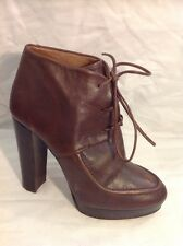 Zara Woman Brown Ankle Leather Boots Size 37