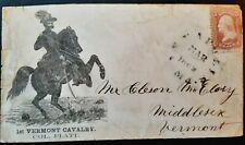 New listing 65 Civil War Patriotic - Rare Vermont Regimental - Unlisted in Walcott & Bischel