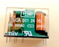 10 pezzi = Relè 24V 16A RELAY LCA 001 24 16 FEME LCA0012416 250VAC 8 PIN PCB