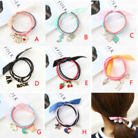 Bow Cat Pendant Hair Ring Rope Band Ponytail Hairband Korean Head Accessories~