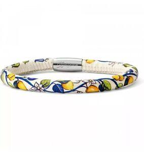 New BRIGHTON WOODSTOCK Leather Magnetic Bracelet Bella Limon Size SM S/M NWT