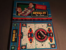 VINTAGE 1955 CADACO SPELL IT DE LUXE DELUXE  BOARDGAME EDUCATIONAL BOARD GAME