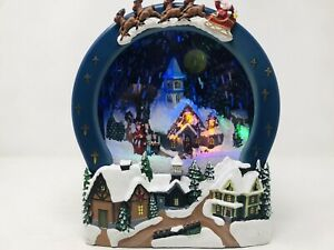 Waterless Light Up Christmas Caroling Scene Snow Globe w/ Music Motion Activated
