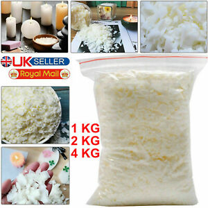 Soy Wax/Soya 100% Pure Candle Making Wax Natural Flakes Clean Burning WHITE UK