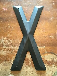 """USA STEEL METAL LETTERS """"X"""" TALL 14"""" Rustic Alphabet A-Z VINTAGE Sign Wall Decor"""