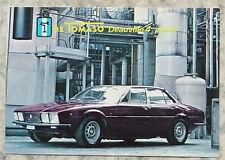 DE TOMASO DEAUVILLE 4 PORTE Car Colour Postcard c1972