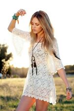 LF Stores Millu Cream Ivory Lace Backless Dress Small NWT Blogger