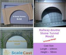 N-Gauge STONE Double Tunnel Mould - N2 - N Scale
