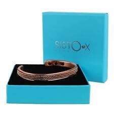 Slim Thérapie Magnétique Bracelet/Bracelet 6 Aimants Brillant Cuivre Perlé Motif