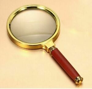 Handheld Magnifying Glass 90mm 15x Magnifier Loupe Reading Jewelry Aid Big Large
