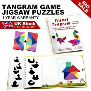 Magnetic Tangram Puzzle Jigsaw Montessori Educational Cognitive Toy Kid Gift