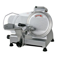 Electric Meat Slicer Stainless Steel 10'' Blade Bread Cutter Deli Food Machine