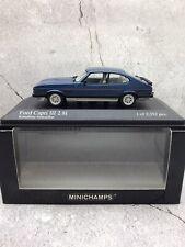 Minichamps 1/43 1982 Ford Capri 2.8i - Metallic Blue - MIB