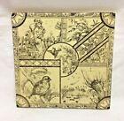 "Antique 6"" Victorian Tile Minton Hollins, Children, Birds, Pond w/ Ducks,1880s *"