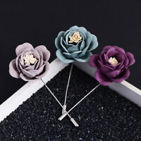 Mens/Womens Wedding Flower Corsage Lapel Pin Brooch Suits Boutonniere Stick Pins
