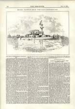 1891 Modelo acorazado Chicago exposición Grabado