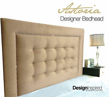 ASTORIA Upholstered Bedhead / Headboard for King Ensemble - Parchment
