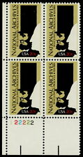 US #2081 20¢ National Archives Plate Block MNH
