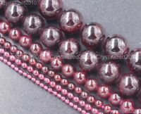 Natural Dark Red Garnet Gemstone Round Beads 3mm 4mm 6mm 8mm 10mm 12mm 16""