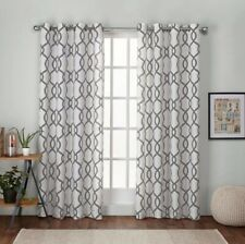 "Exclusive Home Grommet Curtain Panels  Kochi Set Of 2 -52""x 84"" Dove Grey New"