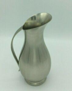 """Vintage Royal Holland Pewter Daalderop 8"""" Pitcher Vase Handcrafted Tiel Holland"""