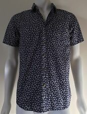 Obey Short Sleeve Blue Print Shirt - Size S - NWT Orig Price $110