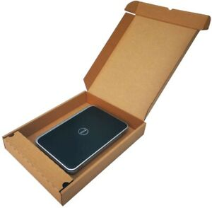 LAPTOP SHIPPING BOX WITH CHARGER COMPARTMENT STRONG CARDBOARD MAILER 51x38x7cm