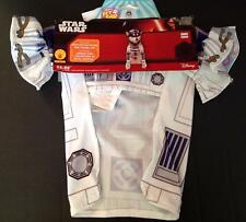 Star Wars R2D2 Pet Costume Small NWT Disney Shirt With Paw Covers Hat New