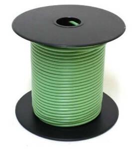 100ft 24ga 24awg Alpha 1854 Light Green PVC Stranded Wire MIL-W-16878D 600V