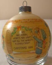 Hallmark Round Betsey Clark Christmas Ornament 1984 Glass Ball Days Are Merry