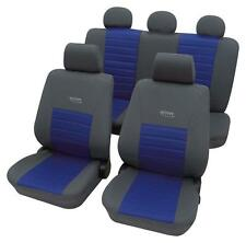 Sport Look Car Seat Cover set - For BMW 3-Series E90-E92 2005 On  - Grey & Blue