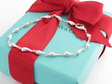 "Tiffany & Co Silver Continuous Teardrop Peretti Bracelet 7.5"""