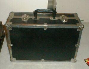 "Vintage 18"" Luggage Storage-Travel-Gear TRUNK Black 2-Latches & Handle 18""x12x7"""