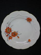 Kuchenteller Porzellan altweiß mit Relief + Blüten C. Schumann Arzberg W766