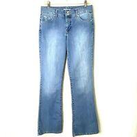 Bandolino Women's size 8 Arianna Boot Cut Blue Denim High Rise Jeans 32 x 33