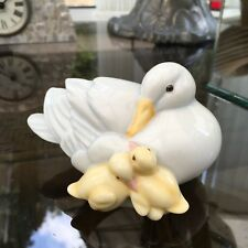 ROYAL WORCESTER MOTHER DUCK with DUCKLINGS  - SWEET DREAMS - Ornament Figurine